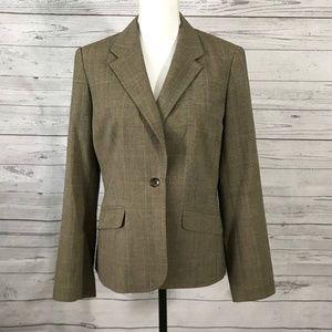 Nine West Blazer Light Brown Suit Jacket Sz 10